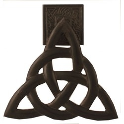 Surprise your guests! Especially the Jehovah's Witnesses. Trinity Knot Door Knocker / Antique Bronze, $74.95. #CatholicCompany