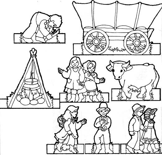 Pioneer Children Paper doll - print on card-stock, let kids color, cut out, fold tabs back and then play! Description from pinterest.com. I searched for this on bing.com/images