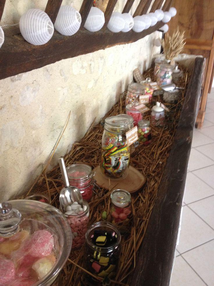 Candy Bar Mariage champêtre Alexa réception Wedding planner  Centre France
