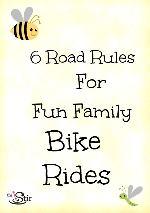 Have you tried a FAMILY bike ride yet? Here are bicycle road rules that will keep your kids safe and getting family exercise.http://thestir.cafemom.com/big_kid/154241/6_road_rules_for_fun