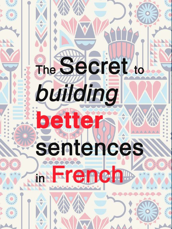 A new article: How can you build a correct sentence in French? I also give you for FREE (and for only 5 days) my new ebook available only on Amazon. Check it the article http://www.talkinfrench.com/french-sentences-building/ You really have to share this article to your friends who want to learn French