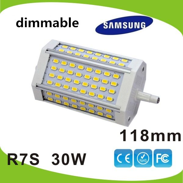 Find More LED Bulbs & Tubes Information about High power 118mm led R7S light 30W J118 R7S  dimmable lamp replace 300w halogen lamp AC110 240V,High Quality led lights for boat,China led lamp 5w Suppliers, Cheap led solar street lamp from ShenZhen Herhe Lighting technology co., LTD on Aliexpress.com