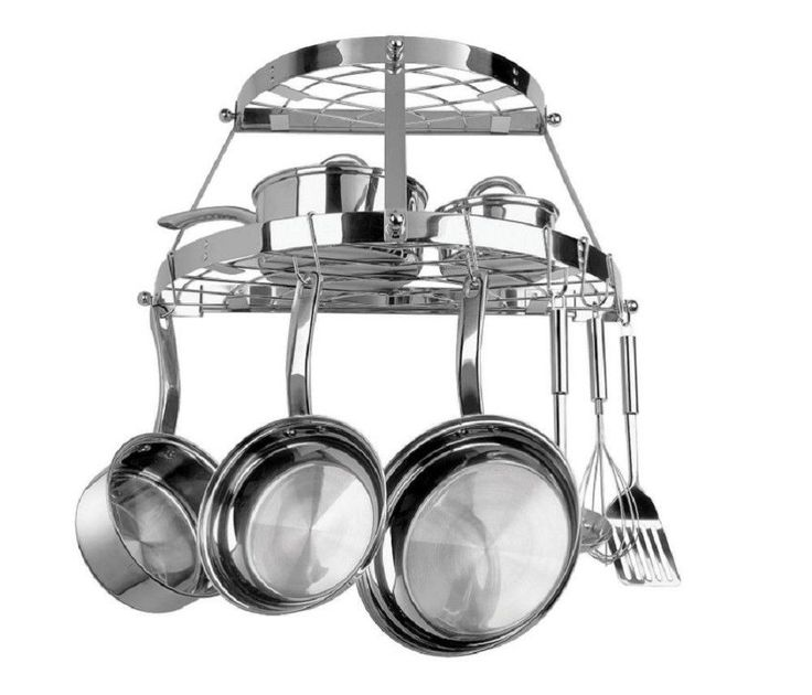 Wall Mounted Pot Rack Stainless Steel Semi Circle Heavy Duty Cookware Hanger NEW #RangeKleenManufacturingInc