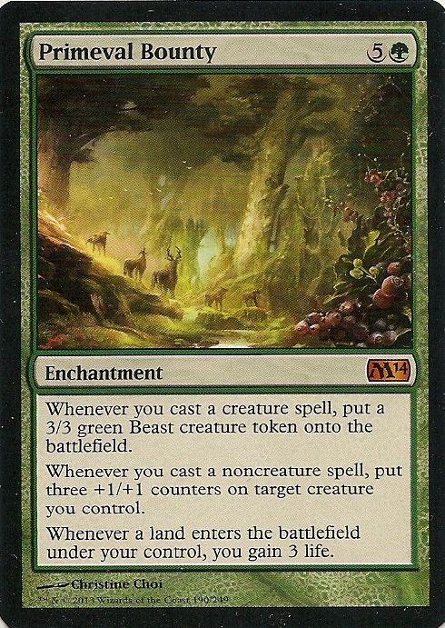 2014 Core Set Magic: The Gathering MTG SINGLE CARD Primeval Bounty MYTHIC RARE