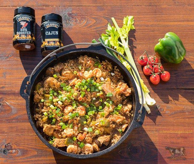 Chicken Jambalaya Feuriges Reisgericht Aus Den Amerikanischen Sudstaaten Rezept Einfache Gerichte Rezepte Und Hahnchen Jambalaya