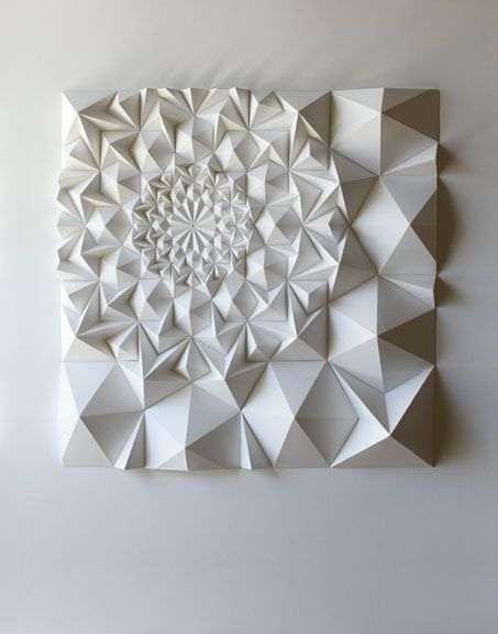 Ann Arbor, MI artist Matt Shlian, beautiful use of paper for texture