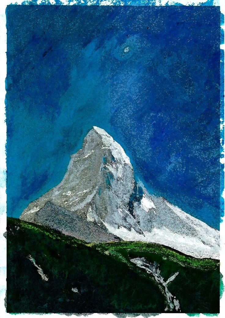 Matterhorn in de zomer