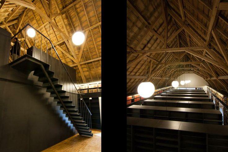 Sint-Sixtusabdij West-Vleteren | Koplamp Architecten - zolder/bibliotheek/depot