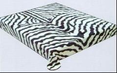 SRA Zebra 308 Black White Korean Mink Queen Blanket