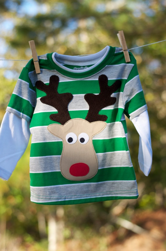 Boys reindeer shirt.  There's also a matching girlie one.  ;-)