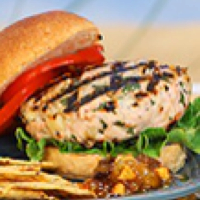 Mar-a-lago Turkey Burgers. Best turkey burgers ever. I found the recipe on Oprah's website about 2 years ago...They are served at Donald Trumph's Mar-a-lago private club in Palm Beach. This is one of my little boy Braxton's favorites!