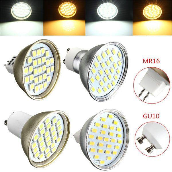 Лучшая цена MR16 4W LED 27 5730 SMD Энергосбережение Прожектор Точечные светильники Лампа Pure White теплый белый Домашнее освещение 220V