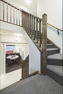 Centre stairwell and lifestyle room