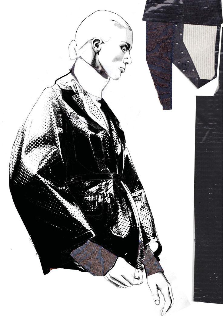 Graduate Fashion Portfolio - fashion illustration & textile samples - fashion sketchbook; collection development // Andrew Voss