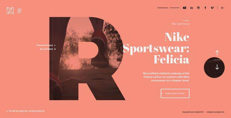 I like the big emphasis on content and the large type + color wash that can take many different image styles. It's all very fancy, probably more ambitious than what we need.