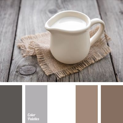 White color adds volume to a combination of soft gray-brown hues. This color scheme suits well exterior trim of cottage or country house, as well as balconies and loggias of city apartments. This color scheme can be used in a classic business clothes, both male and female.