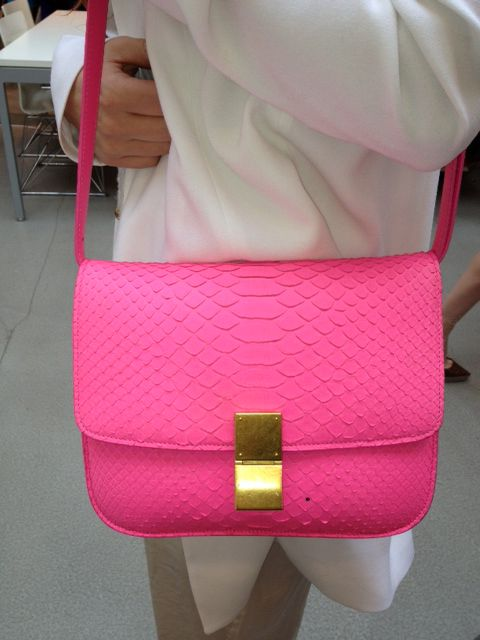 snake skin pink: Fashion, Style, Neon, Celine, Accessories, Purses, Bags