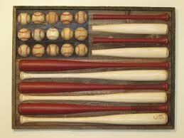 Baseball Bat & Ball American Flag This would be awesome for a boys room