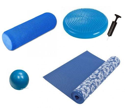 RS Sports yoga set  Description: Deze set bestaat uit de volgende artikelen:RS Sports yoga balDeRS Sports yoga balis een makkelijk op te blazen bal met een diameter van 25 cm. DeRS Sports yoga balis zeer geschikt voor pilates en yoga oefeningen. Na gebruik is de bal zeer makkelijk leeg te laten lopen om makkelijk op te bergen.  RS Sports Balanskussen DeRS Sports Balanskussenzal er voor zorgen dat u de kleine spiergroepen van bijvoorbeeld benen en core kan trainen. Buik en rug worden…