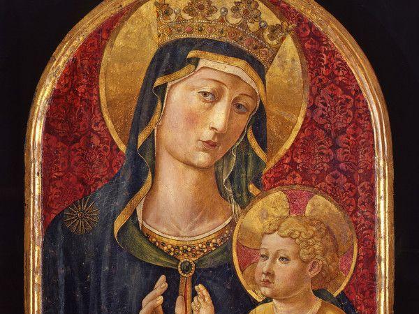Benozzo Gozzoli, Madonna col Bambino (Madonna del Poggio), Tempera e oro su tavola, 1480 - 85 circa, In deposito al Museo Nazionale di San Matteo, Pisa Calci