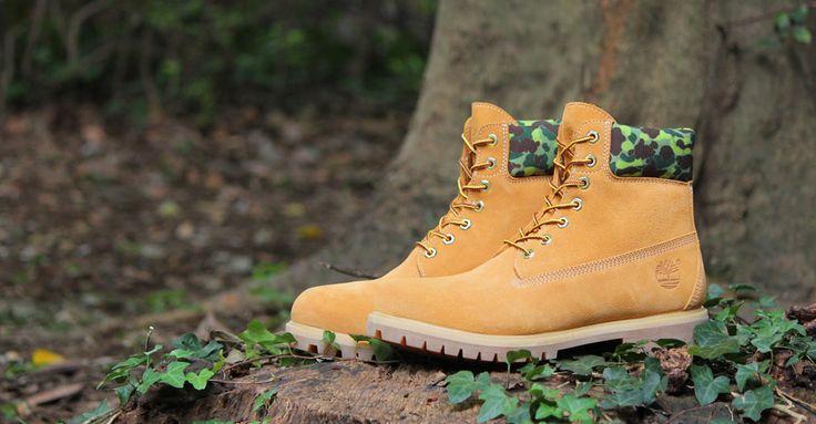 "atmos x Timberland 6 Inch Boot Waterproof ""Wheat/Camo"""