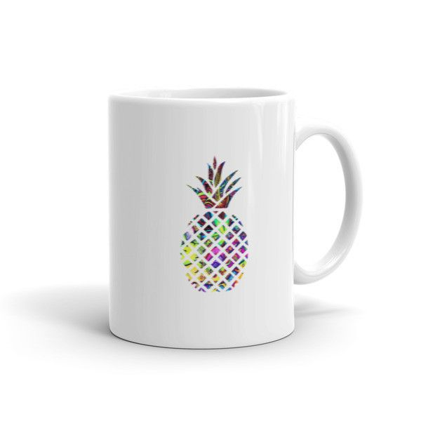 Beautifully designed Mug for pineapple lovers. When life throws you lemons, sell them and buy a pineapple or at least a pineapple mug! This sturdy white, glossy ceramic mug is an essential to your cup