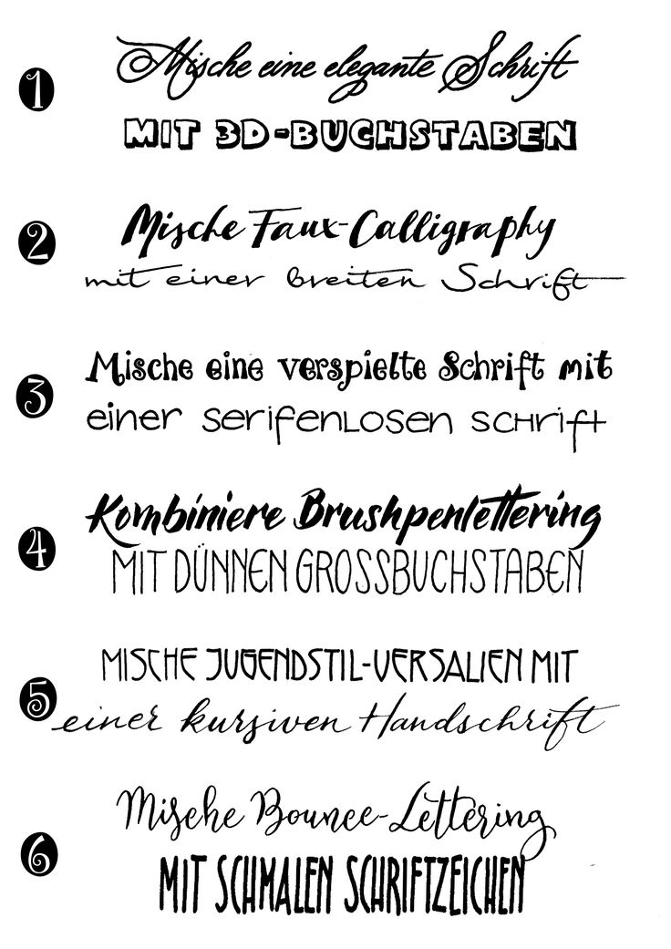 Here I explain to you how best to combine fonts for your handletterings, so that they come out well / Fonts combination hand …