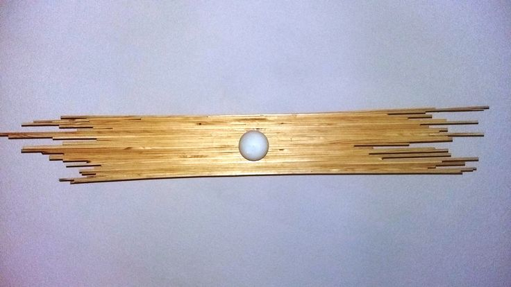Wooden pendant ceiling lamp