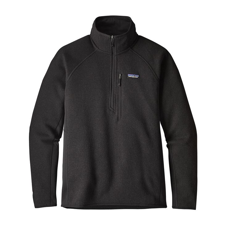 Patagonia Mens Performance Better Sweater Fleece 1/4 Zip Black