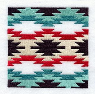 native american colors and patterns | Native American Rug Quilt Block 1 - Sm