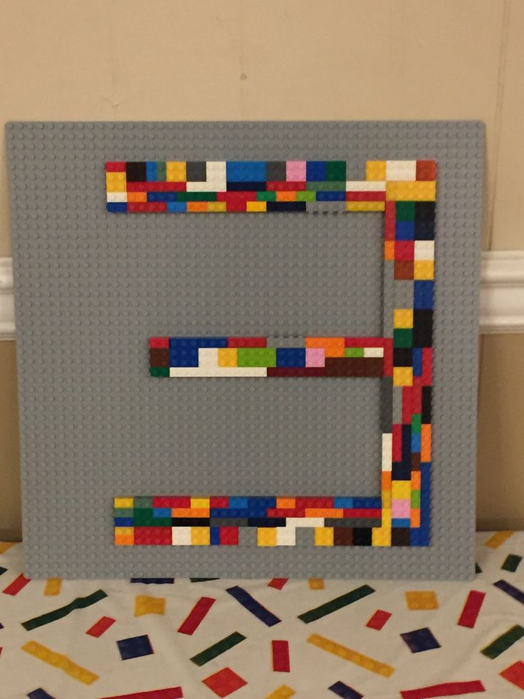 LEGO age sign for my son's 3rd Birthday Party