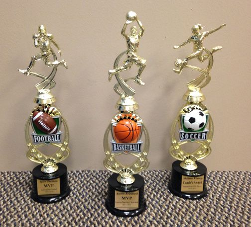 Sports figurine trophies, Soccer trophy, basketball trophy, football trophy, custom sport trophies and awards by www.louscalias.com #sportstrophies #figurinetrophies