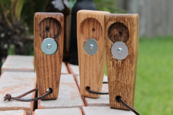 Flasche Öffner aus Holz Lederband