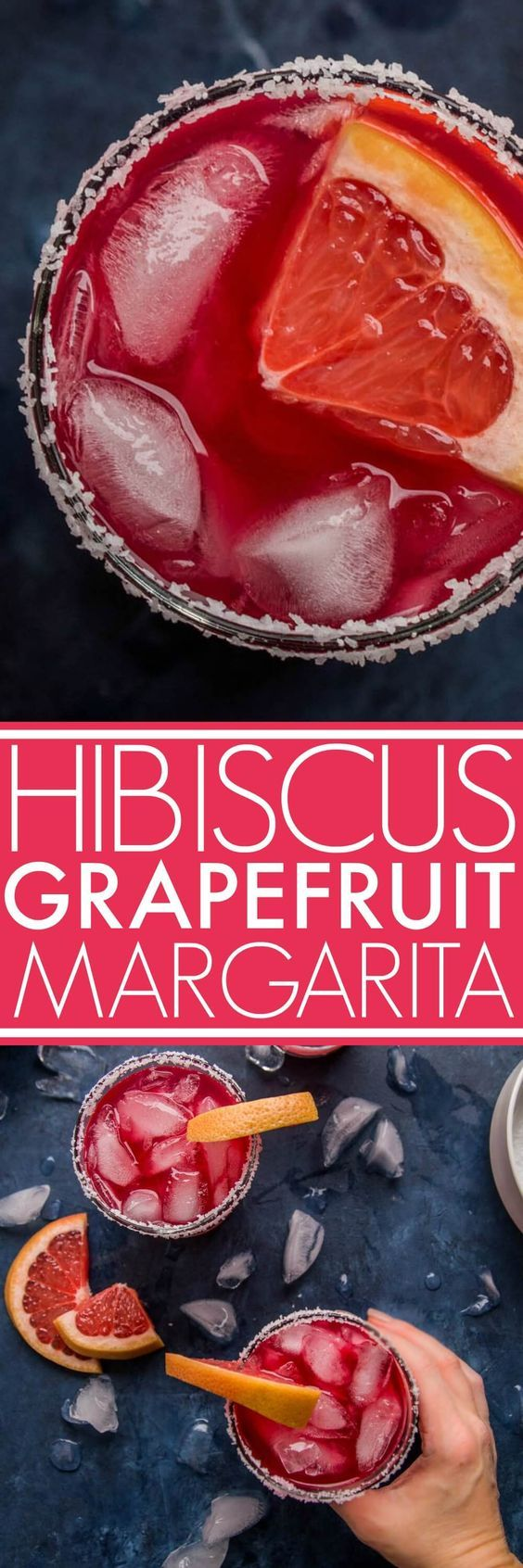 These Hibiscus Margaritas are so refreshing and a perfect balance of sweet and sour. Made with hibiscus tea concentrate, grapefruit juice and tequila. The ingredients are simple, but the taste is amazing!#cocktail #margarita #hibiscusmargarita #margaritarecipe #grapefruitmargarita via @platingspairing