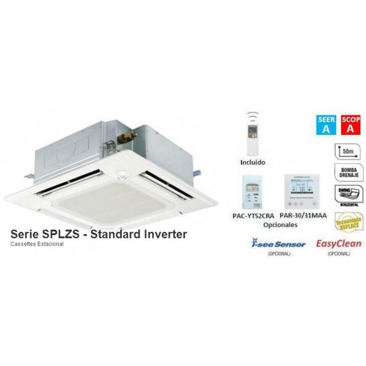 Modelo  SPLZS-60VBA  Con una potencia de 5246 Frig / 5934 Kcal  Los sistemas de aire acondicionado de la serie Standard Inverter se presentan como la solución más versátil; combina las mejores prestaciones a un precio muy competitivo, resultando idónea para todo tipo de aplicaciones.  Solo por: 1.508€
