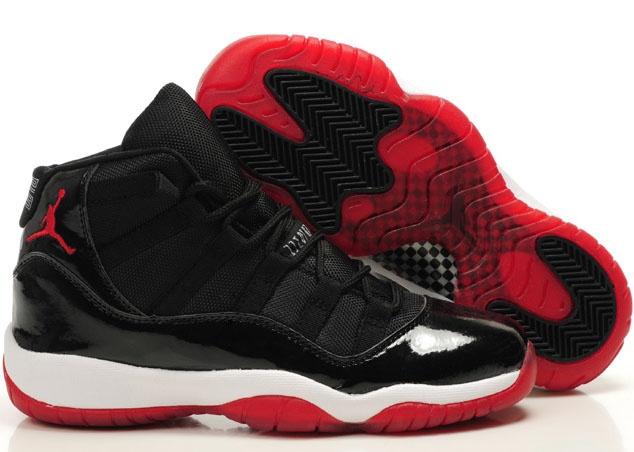 Air Jordans 11 Womens Bred Black White Red - Jordan 11