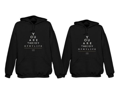 matching hoodie sweatshirts for newlyweds you are the joy of my life couples hoodies by