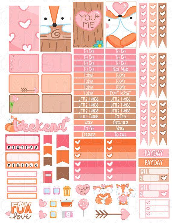 Printable Planner Stickers MAMBI Happy Planner di LaceAndLogos