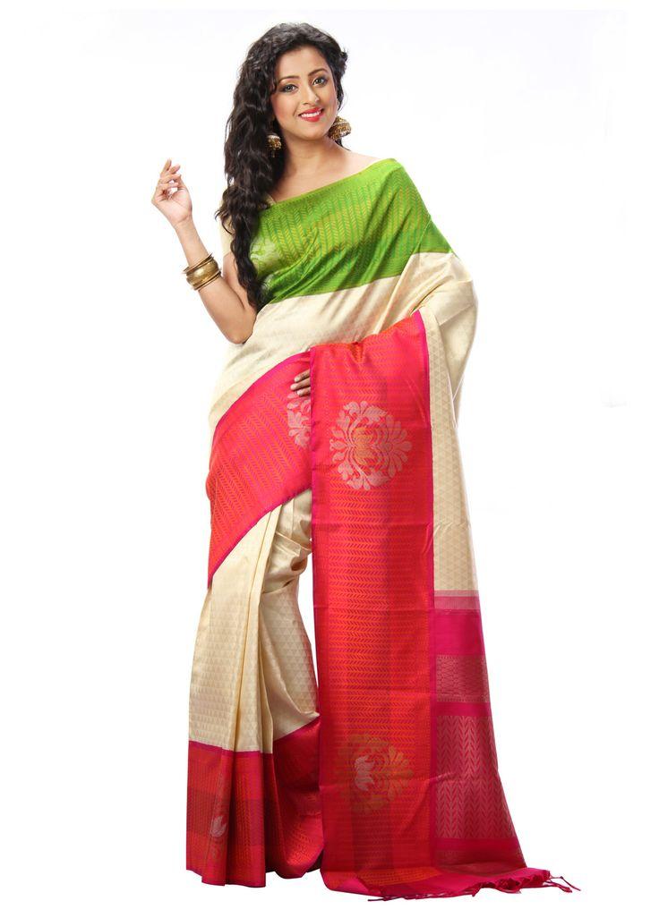 Tirangini Pure Kancheepuram Silk Saree