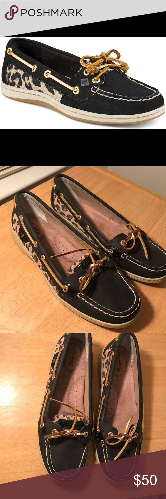 Firefish Leopard Sperry 9.5 Women's Firefish is the feminine update to our classic Angelfish style Non-marking rubber outsole EVA molded midsole provides support and comfort Leather and textile upper Sperry Shoes Flats & Loafers