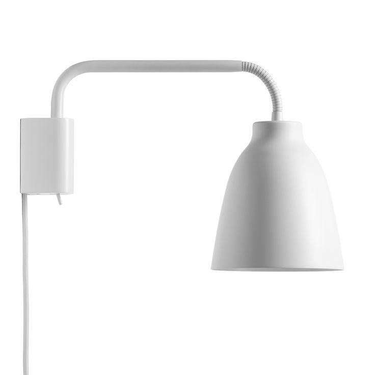 Caravaggio Wall Lamp, White - Cecilie Manz - Lightyears - RoyalDesign.com - $325 - H206 x D140mm