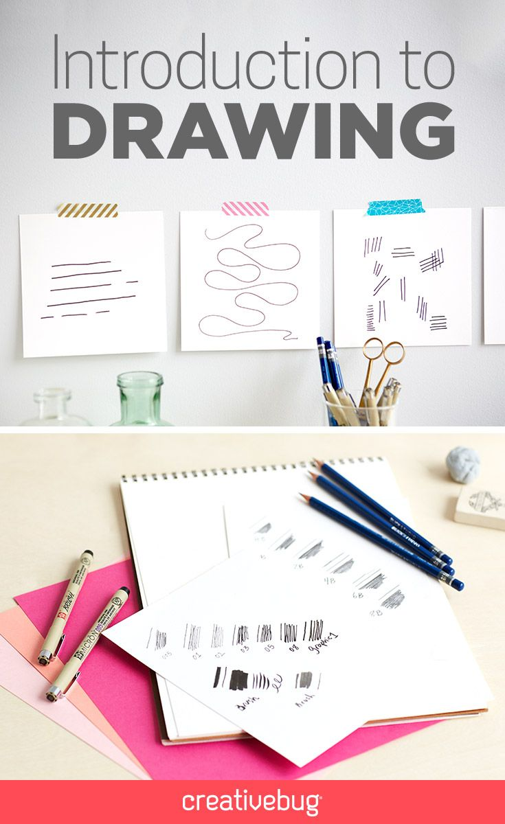 Live on the site, Introduction to Drawing (Part One) from Molly Hatch. Learn all of the basics of line drawing which will serve as a foundation for all of your artistic endeavors.