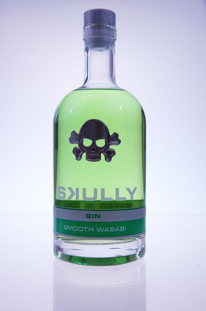 Skully come with an amazing new product: Smooth Wasabi Gin, off course for sale @ Drankenwereld.be