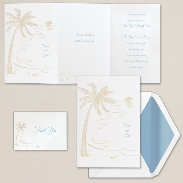 destination wedding invitation rsvp date%0A Exclusively Weddings Tropical Sunset Wedding Invitation is a destination or  tropical themed design  A tropical