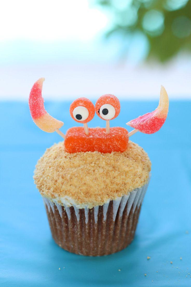 Gummy Crab Cupcake Topper