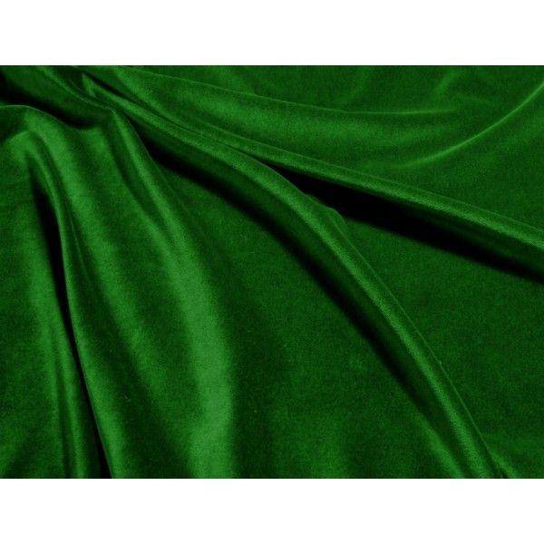 Aksamit bawełniany - zieleń - 72