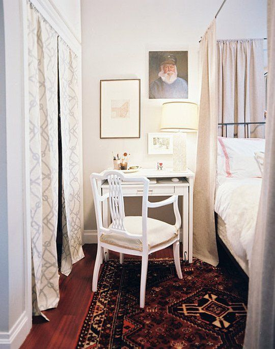The Bedside Office: Desks Doing Double Duty as Nightstands | Apartment Therapy