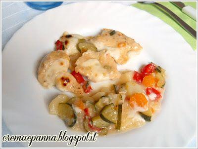 Crema e panna: Bocconcini di pollo con le verdure