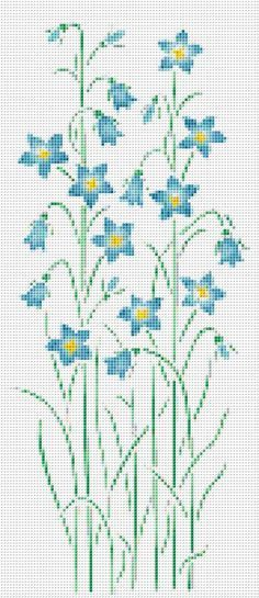 Blue Wildflower Cross Stitch Pattern Flower by xstitchpatterns