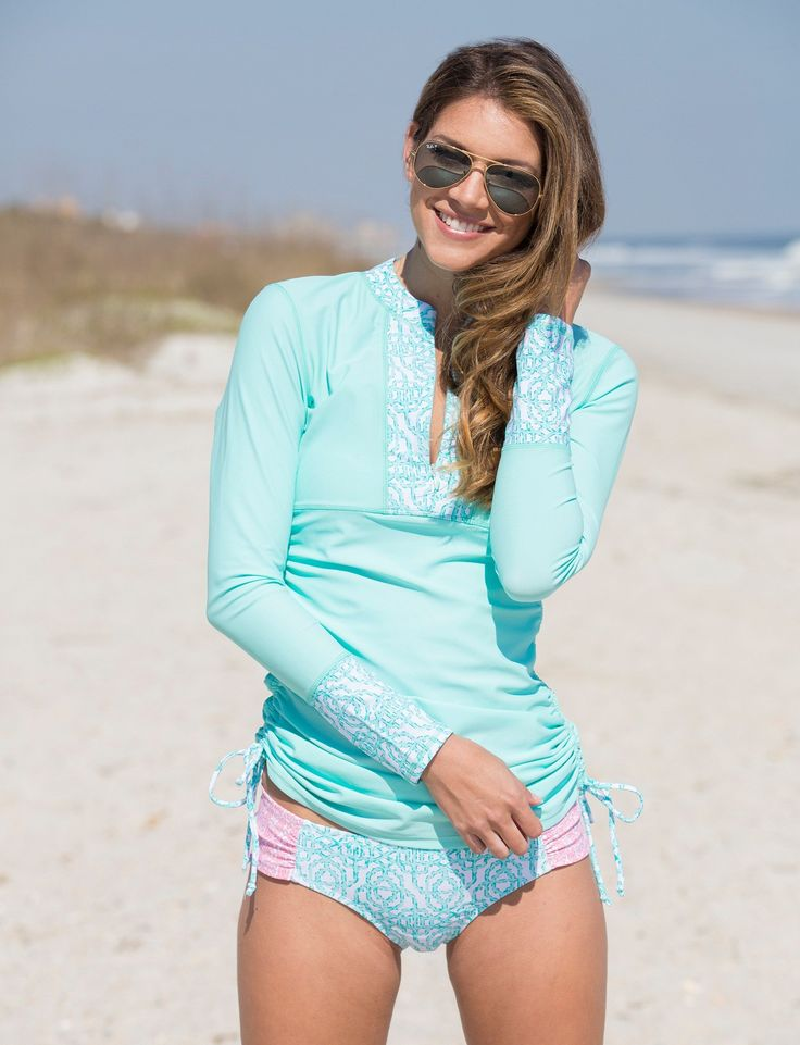 Our rash guard swimwear is the most comfortable and flexible rash guard swimwear you'll find anywhere. Our rash guard swimwear provides absolute sun guard and rash protection, and you'll be happy looking and feeling good wearing them.